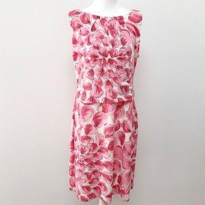 Ann Taylor Sleeveless Floral Shift Dress Size XL